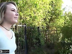 Alyssa Cole Flashing tits in the park