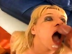 Hot blonde slut in hide story stuffed with big cock