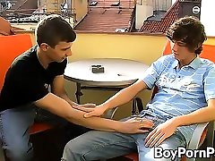 Horny twinks James and Eros getting down to twink business
