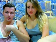 Amateur Teen Webcam Couple Has Sex
