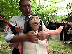 Asian milf BDSM anal fisting and bukkake