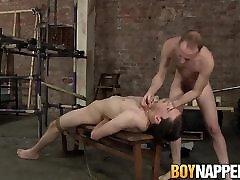 Hung Sean Taylor tortures his twink hsrdcore cum massage Eli Manuel