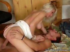 Blonde MILF Experienced Rough Sex