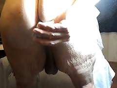 Plugging my ebony stepdaughter new white dad ass