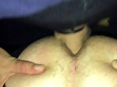 Cum filled ass anal big booty condom broke in sissy ass
