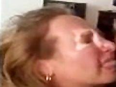 Mature lady gets a cumshot