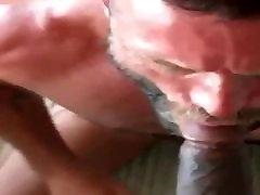 Blue eyed bearded BBC sucking daddie