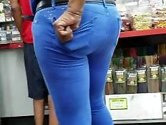 Ebony Granny In Blue Pants