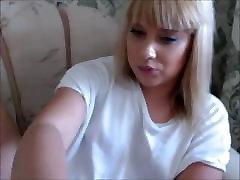 Hot Blonde cums