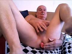 playing with my butt plug watching a big fat hai gangbang.mp4