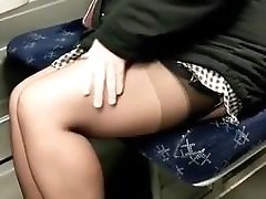 Upskirt Mature Mom in tram! Amateur!