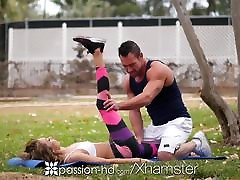 aistra-hd po parką treniruotės, masažas fuck ir creampie