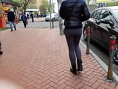 nice russian ass in black jeans