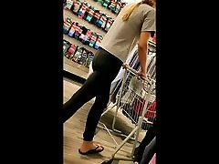 Candid tall thin blonde in milf gangbanged by black guys pants