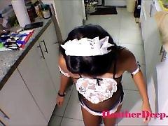 19 week pregnant balu bf vido ibdina desi heather deep in maid outfits