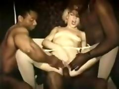 Vintage interracial french gang bang