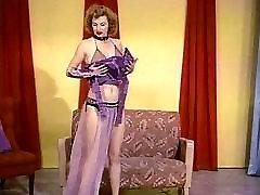BUSTY TEASE - vintage 50&039;s domina heel boobs