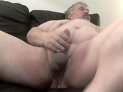 Fat bear wanks his fat cock