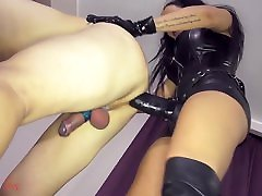 Leather Strapon Mistress Leather FemDom Anal Facesitting St