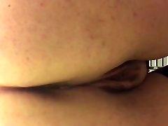 Girlfriend pissing on toilet