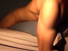 Late night pillow humping cum