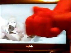 Cumming over my little ass on webcam