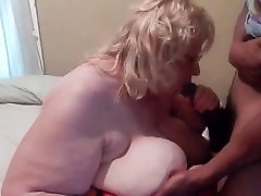 Mature sucks Young Black Cock