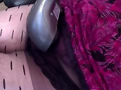 sister nylons and dress with panties