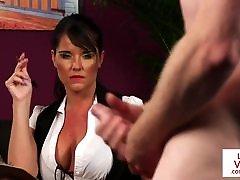 britų milf voyeur paveda jai sub į jerk