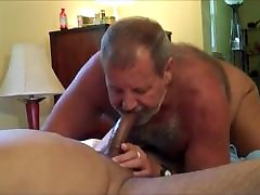 Daddy bear sucks cock 2
