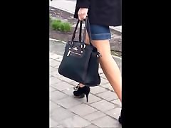 86 Woman with sexy legs in gina devine nice and high heels