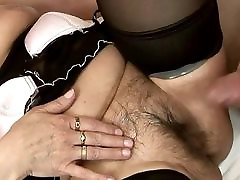 two girls hot suck granny In Stockings Pleased Her Young Lover