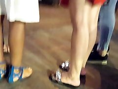 Girls niec tits beautiful all japanese long feets toes in blue sandals