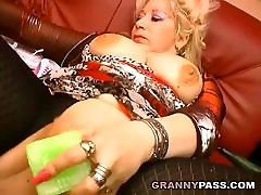 Granny Insterts 2L Fanta In Her Pussy