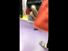Japanese Woman in Black sex show on st and heels