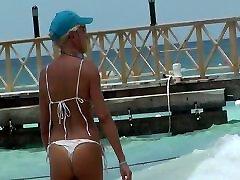 Mature white bikini