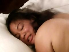 Asian wife take black cumload on her ass