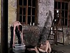 Free gay boy sex video and movie Chained to the warehouse floor and
