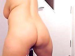 Chubby Big Boobs Mature Webcam girl dildoing fingering