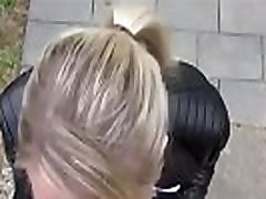 Teen in Leggings Washes Her Car and Fucks in Public- Milfsexycam.com