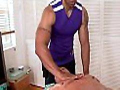 Homosexual male undressed massage