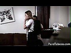 Teen student cumshowered by taboo teacher