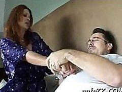 Teacher chokes on a hard ramrod