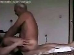 Grandpa rides on the other man&039s penis