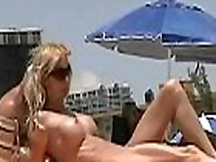 Gorgeous amateur nudist beach cam voyeur vid