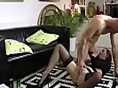 Mature British lady in stockings and lingerie fucks stranger for fun