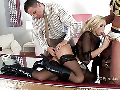 Hot blonde Lis is eager to take a big cock in her mouth