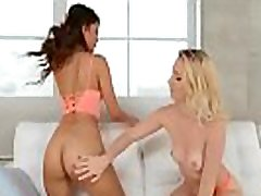 Lesbian Girls Sierra Nicole & Sophia Leone Make Love Sex On Camera mov-29