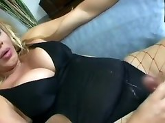 Best Amateur Shemale video with Fucks Guy, Blonde scenes