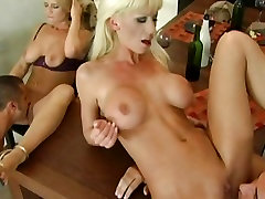 Big tits whore Tanya James enjoys oral wife kitchen and brother friend along with friends